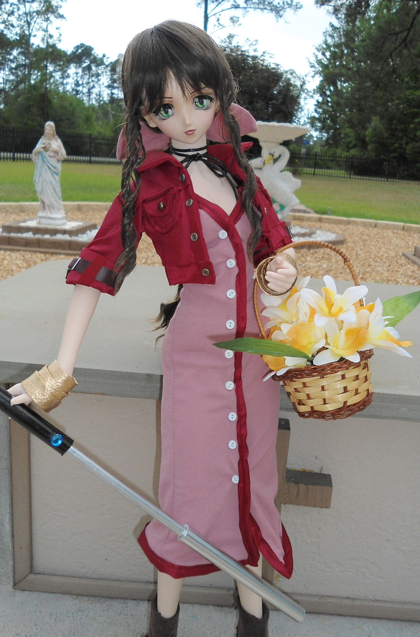 "Aerith Gainsborough 24"" Volks of Japan Doll"