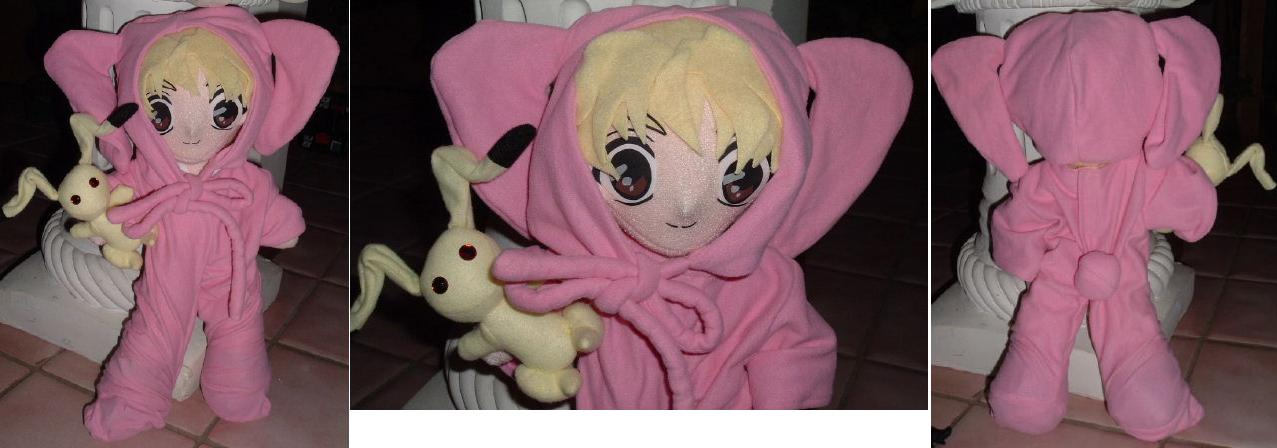 "Momiji in Pink Bunny Suit 12"" UFO with 4"" Bunny Accessory (Additional $25 to"